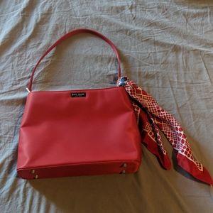 kate spade NEW YORK Handbag Red w/ RARE Scarf